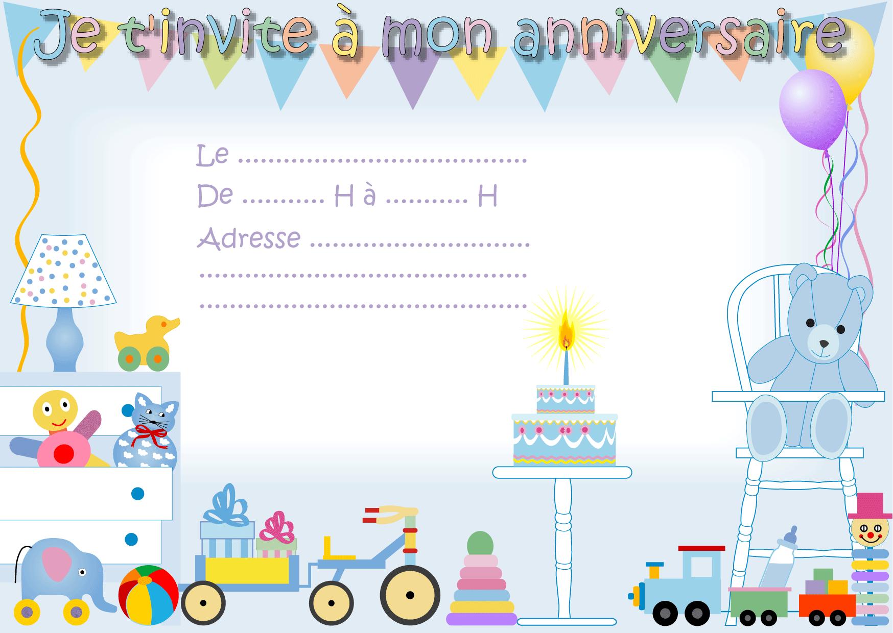 Invitation Anniversaire Gratuite À Imprimer encequiconcerne Faire Une Carte D Invitation Anniversaire Gratuite