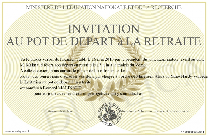 Invitation-Au-Pot-De-Depart-A-La-Retraite intérieur Texte D Invitation Départ En Retraite