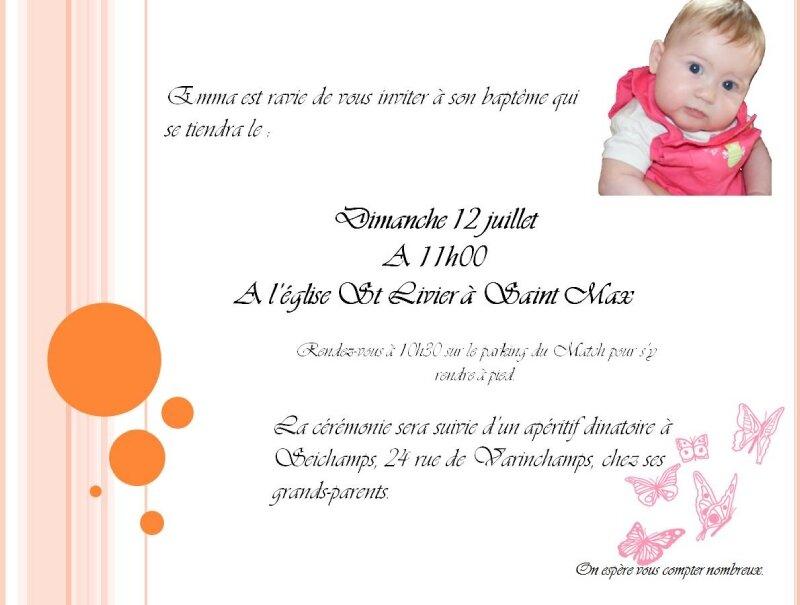 Invitation Baptême - Photo De Cartes - Coup De Pinceau dedans Invitations Bapteme