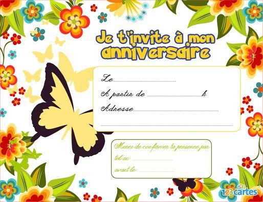 Invitation D'Anniversaire Gratuite À Imprimer   Meilleurs encequiconcerne Creer Son Invitation Anniversaire Gratuitement