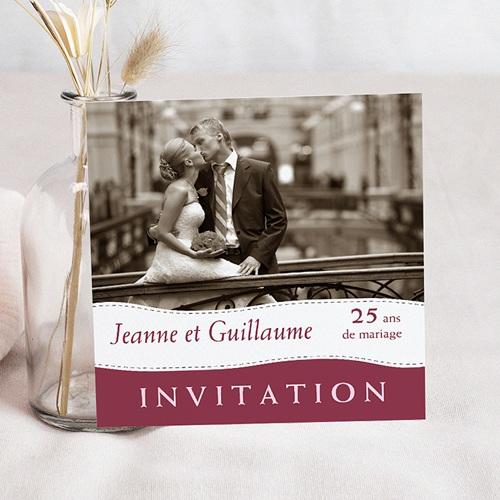 Invitations Anniversaire Mariage - Noces | Carteland avec Texte Invitation 50 Ans De Mariage Noces D Or