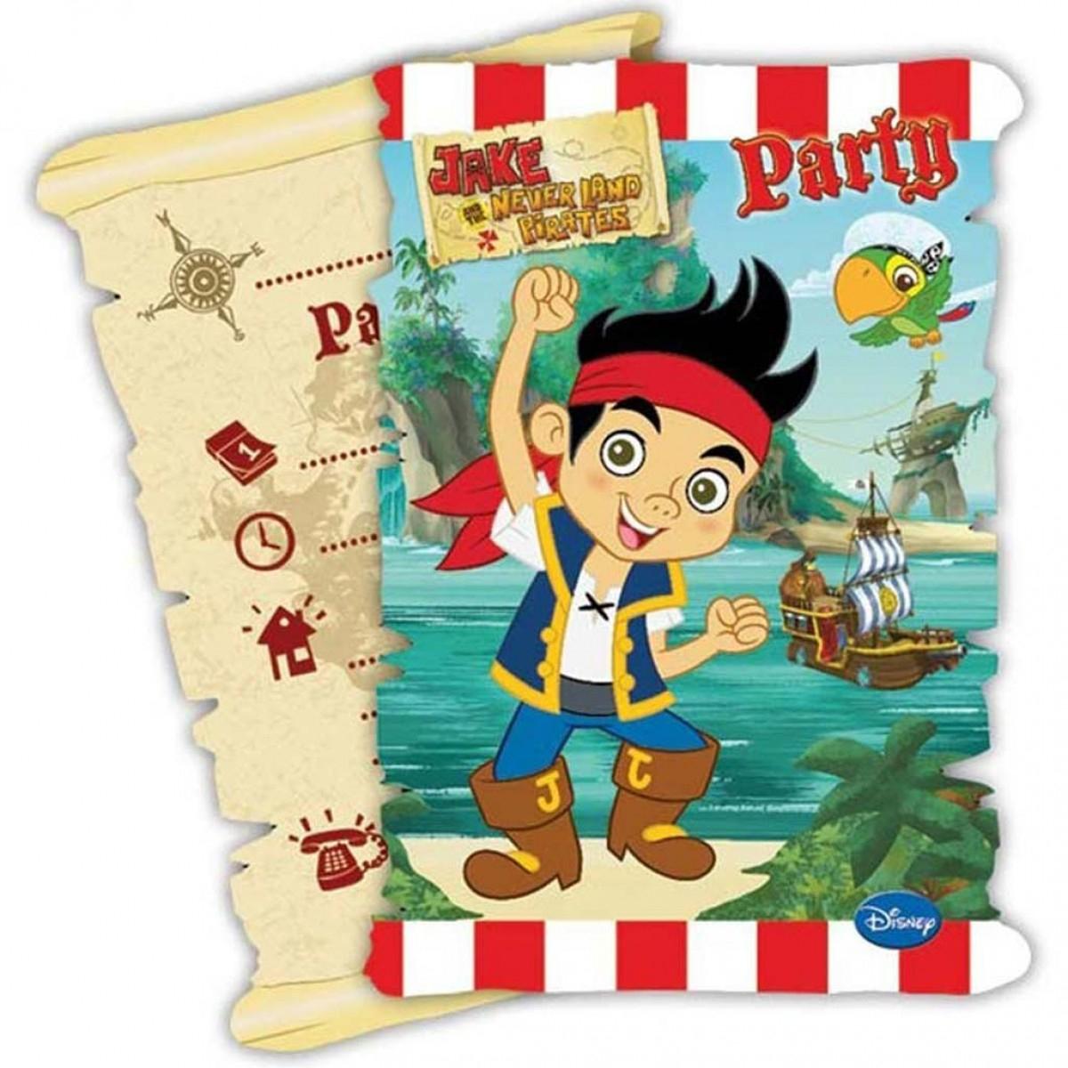 Invitations Jake Et Les Pirates™, Anniversaire Enfant, Féezia intérieur Invitation Anniversaire Garçon 7 Ans