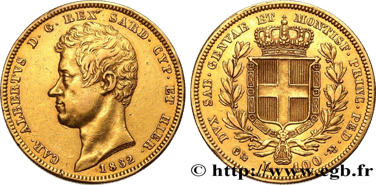 Italie - Royaume De Sardaigne 100 Lire Charles-Albert Roi tout Roi De Sardaigne