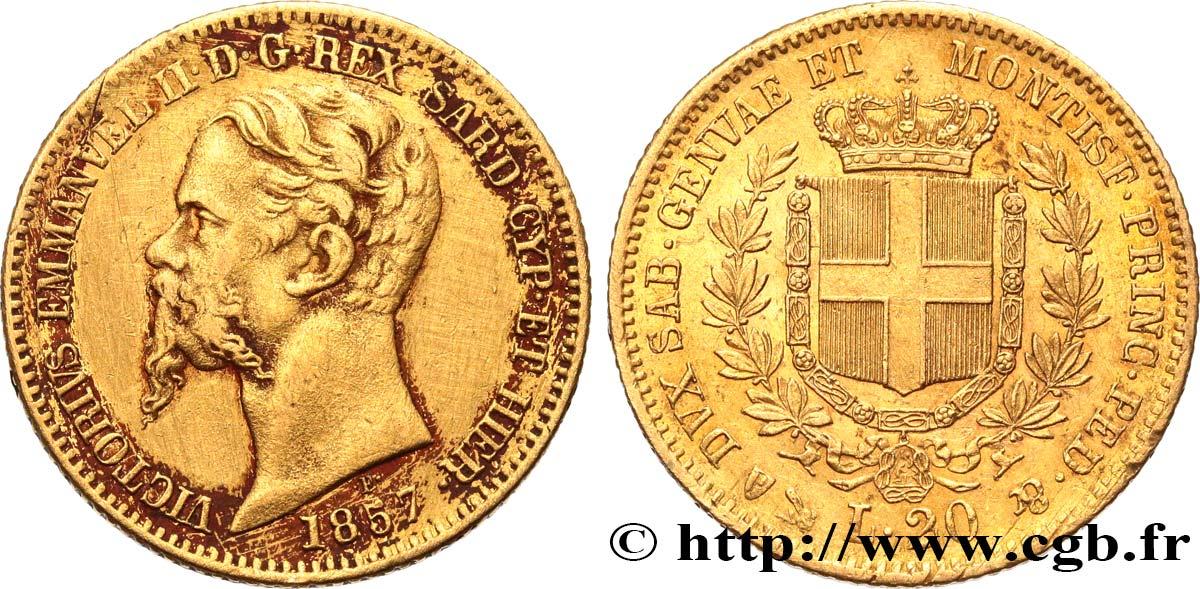 Italie - Royaume De Sardaigne 20 Lire Victor-Emmanuel Ii tout Roi De Sardaigne