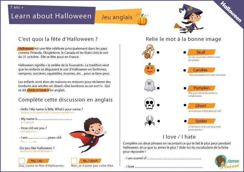 J'Apprends L'Anglais - Learn About Halloween intérieur Jeux En Anglais Gratuit