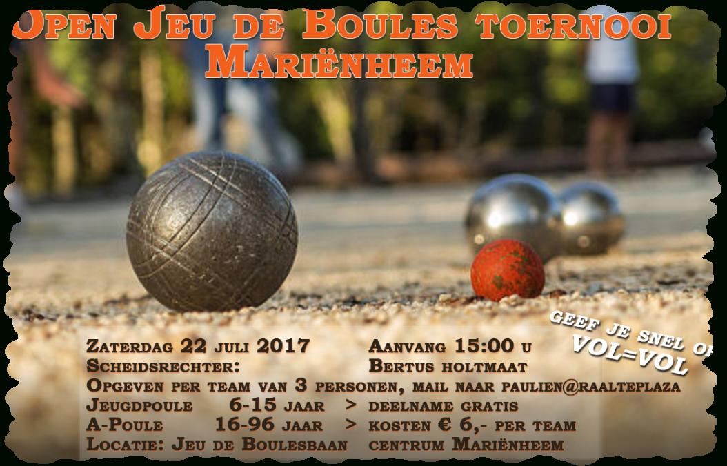 Jeu De Boules Toernooi 2017 - Marienheem Online destiné Jeux De Boule De Couleur