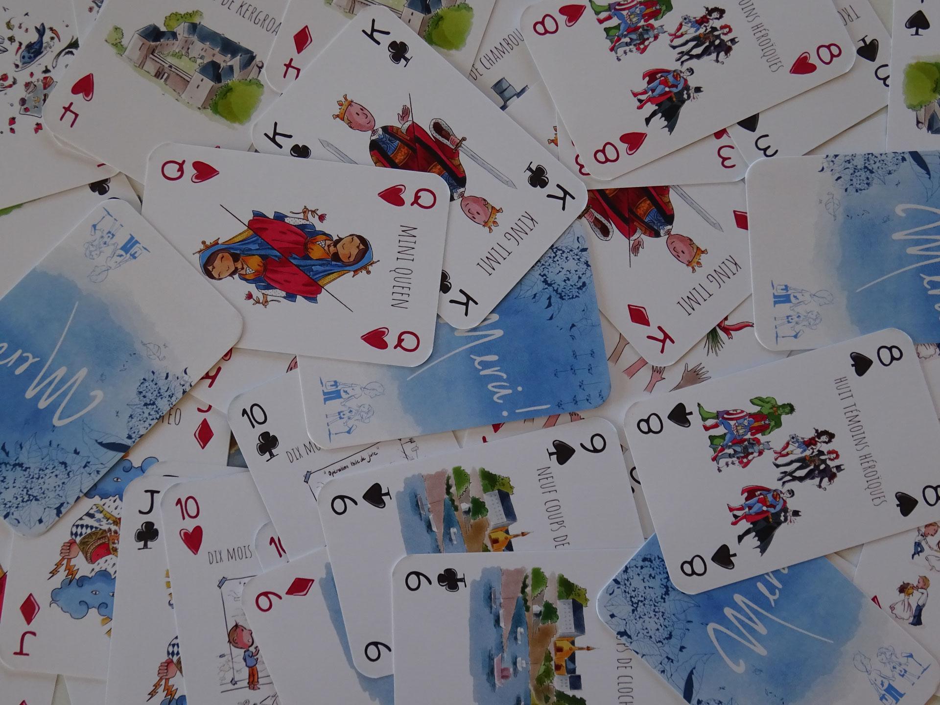 Jeu De Cartes Personnalise Pour Mariage - Jeux De Cartes dedans Comment Créer Un Jeu De Carte