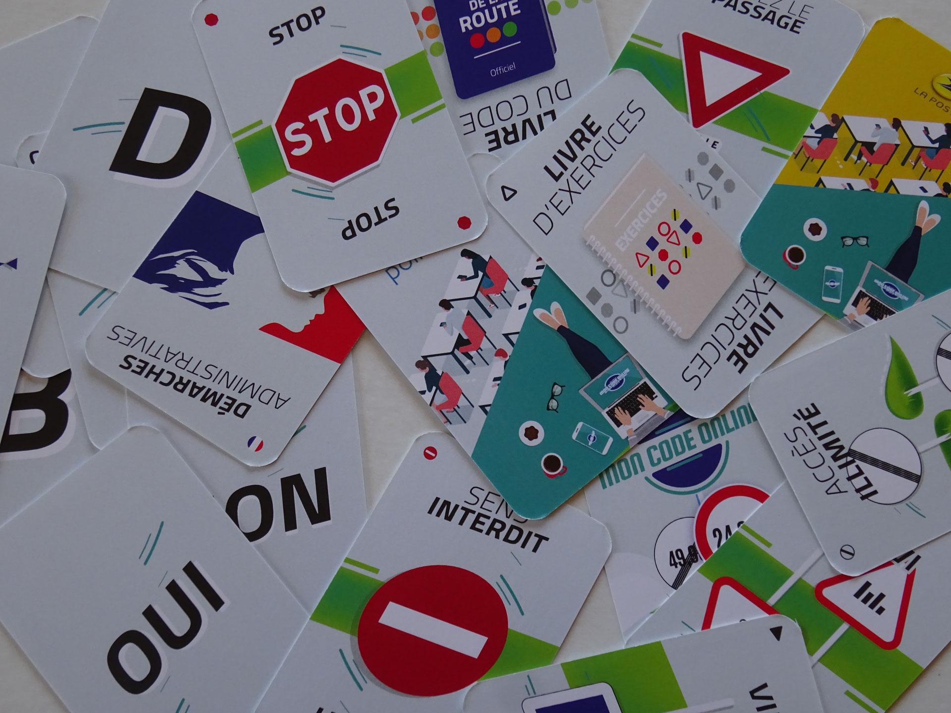 Jeu De Cartes Publicitaire Pour Code De La Route - Jeux De encequiconcerne Comment Créer Un Jeu De Carte