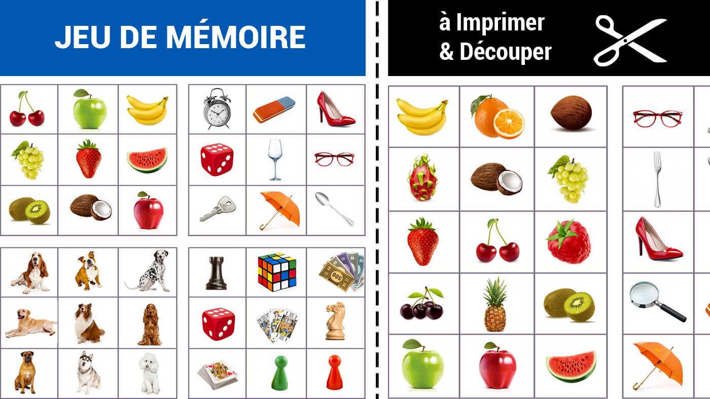 Jeu De Mémoire À Imprimer - Grilles D'Images   Memozor intérieur Jeu De Memoire Gratuit