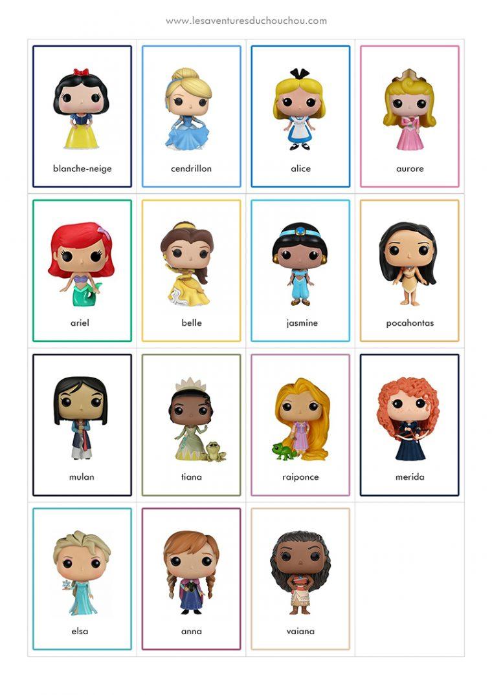 Jeu De Memory À Imprimer / Memory Game Printable (Disney À serapportantà Jeux De Memory Gratuit