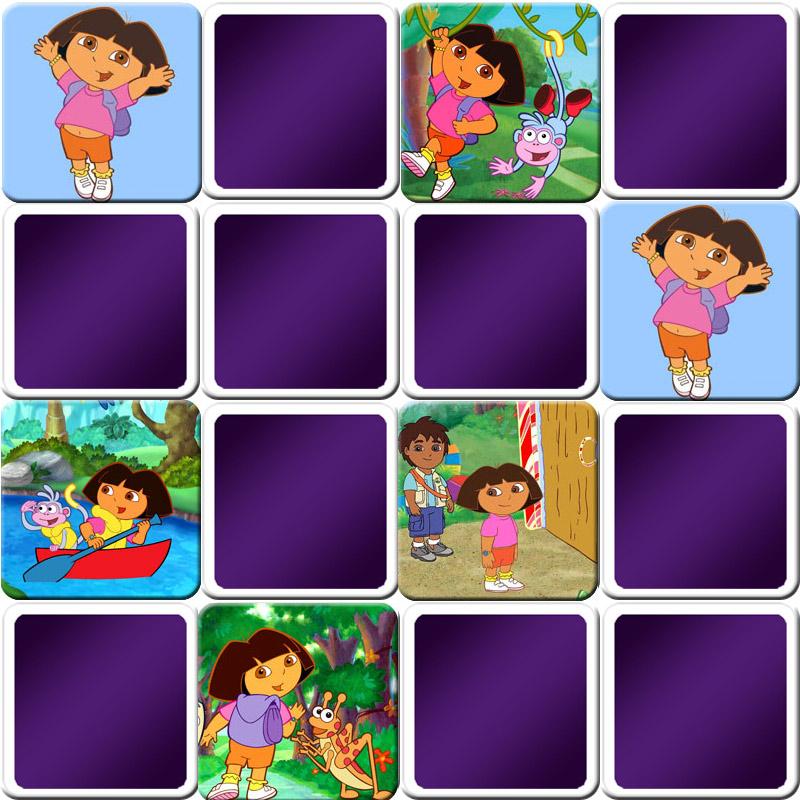 Jeu De Memory Enfant - Dora L'Exploratrice - En Ligne Et intérieur Jeu De Memoire Gratuit