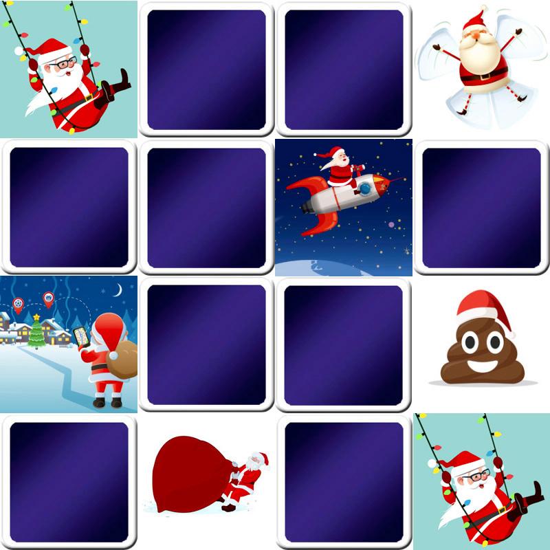 Jeu De Memory Enfant - Images De Noël Amusantes - En Ligne pour Jeux De Memory Pour Enfants