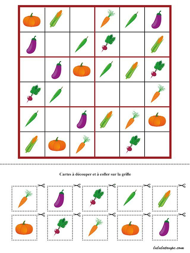 Jeu De Sudoku À Imprimer Gratuitement, Maternelle Ms Et Gs avec Sudoku Gratuit Enfant