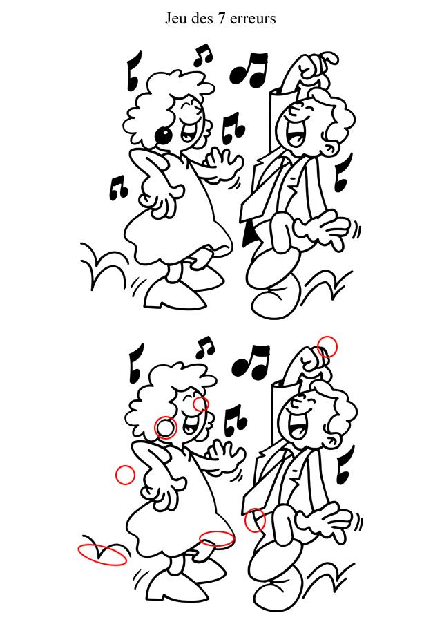 Jeu Des 7 Erreurs À Imprimer : Les Danseurs - Turbulus encequiconcerne Jeux Des Erreurs Gratuit