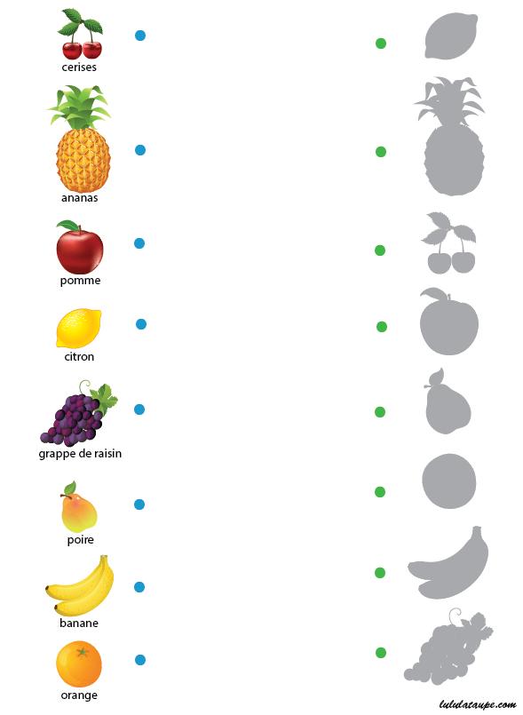 Jeu Des Ombres, Les Fruits - Lulu La Taupe, Jeux Gratuits dedans Jeux Ludique Maternelle