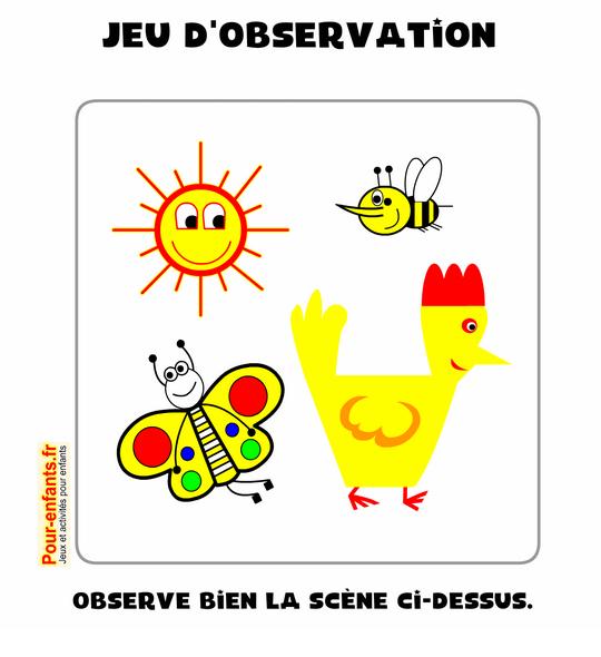 Jeu D'Observation En Ligne Enfants De Maternelle Gratuit dedans Jeux Enfant Maternelle
