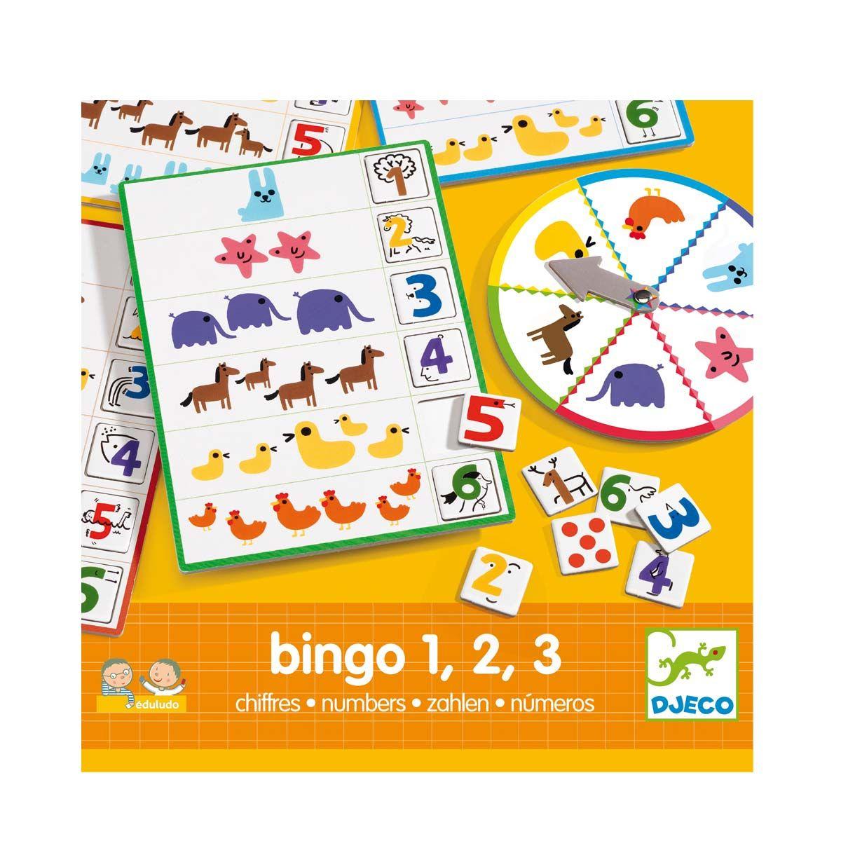 Jeu Éducatif Bingo Chiffres Djeco Pour Enfant De 4 Ans À 6 à Jeux Enfant 6 Ans Gratuit