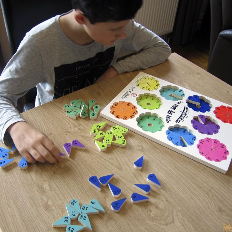 Jeu En Bois Pour Apprendre Les Tables De Multiplication tout Jeux Educatif Table De Multiplication