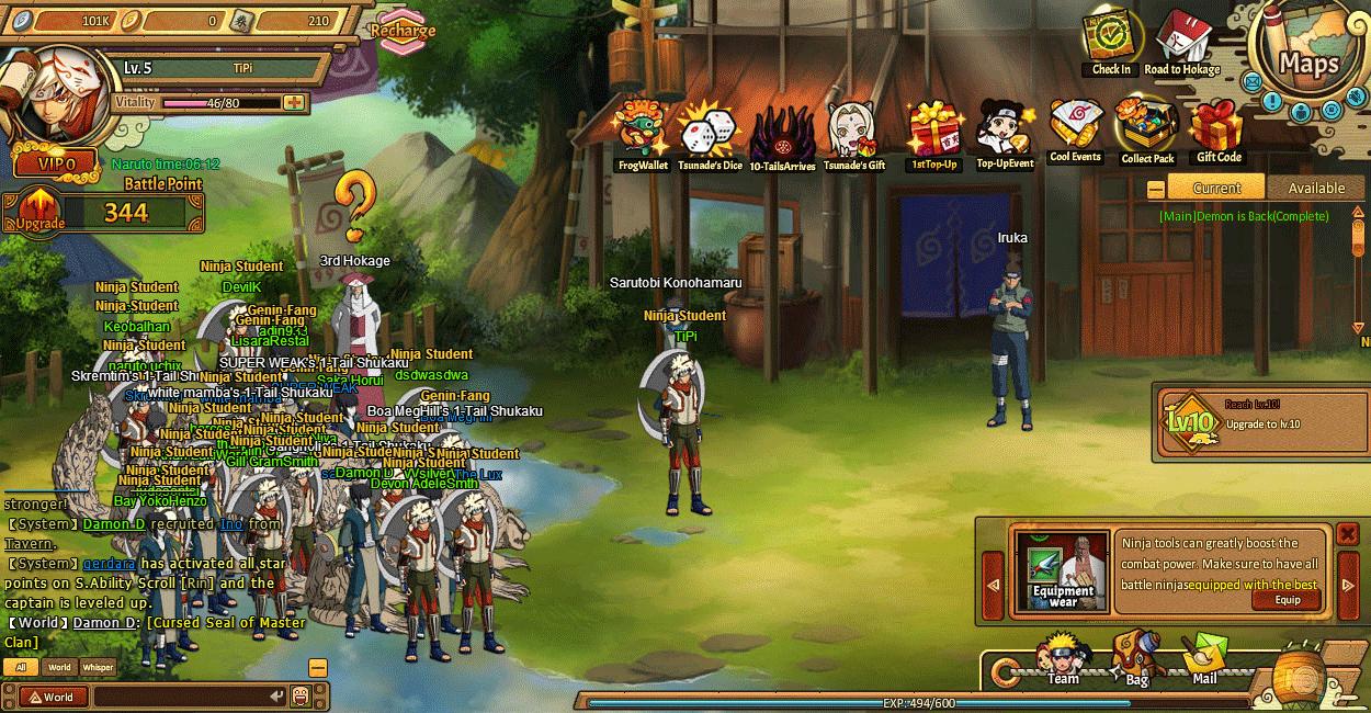 Jeu Gratuit Ultimate Naruto (Unlimited Ninja Ou My Ninja intérieur Tout Les Jeux Online Gratuit