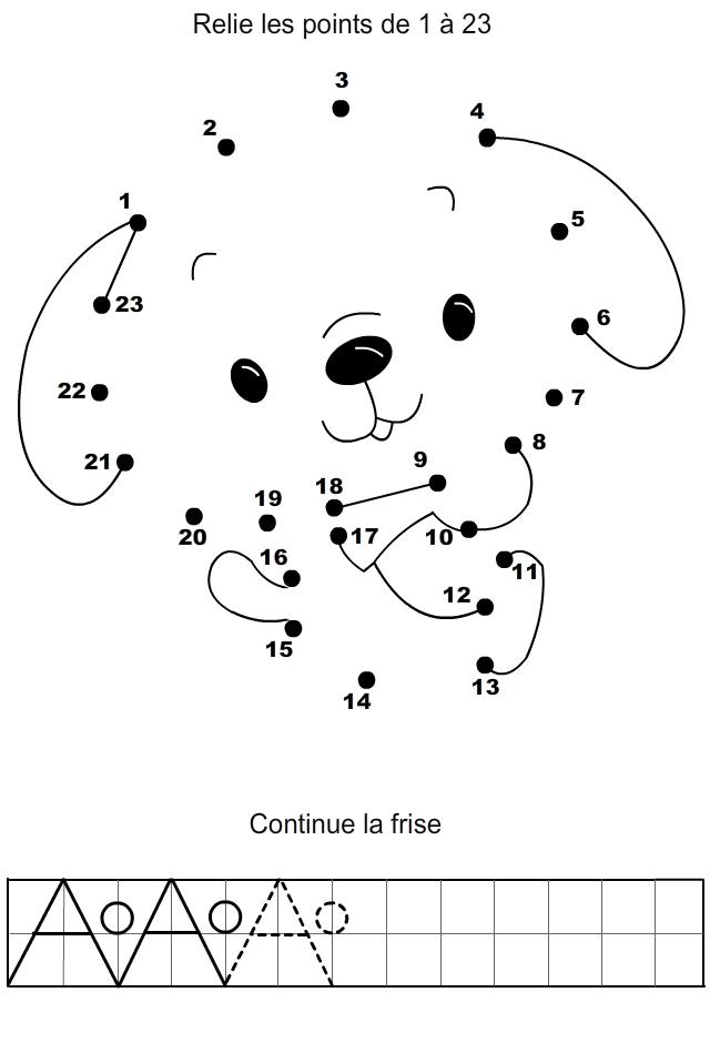 Jeu Relier Les Points À Imprimer | Points À Relier, Points à Jeux Enfant 6 Ans Gratuit