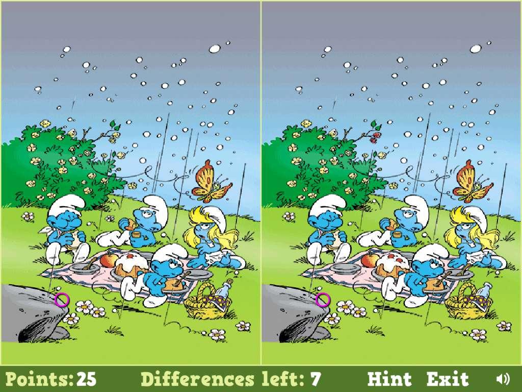 Jeu Schtroumpf Smurfs Spot The Difference / Jeuxgratuits dedans Jeux De Différence