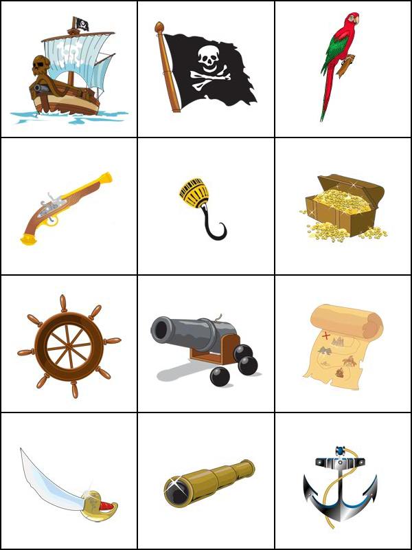 Jeux De Mémoire, Les Pirates - Tipirate | Jeux De Mémoire intérieur Jeux De Mémoire Visuelle À Imprimer