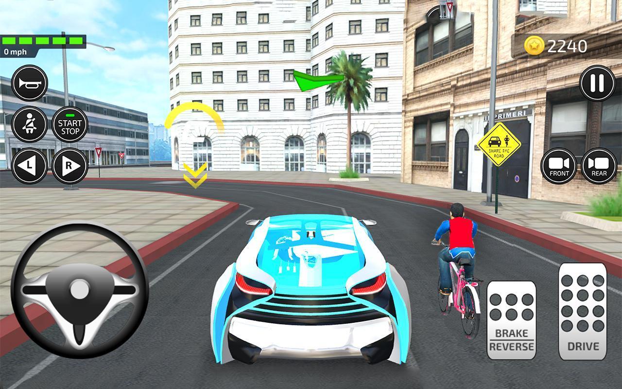 Jeux De Voiture Et Conduire: Auto Ecole Simulateur Pour tout Un Jeu De Voiture De Course