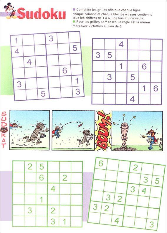 Jeux Du Sudoku À Imprimer   Sudoku Enfant, Sudoku À avec Sudoku Gratuit Enfant
