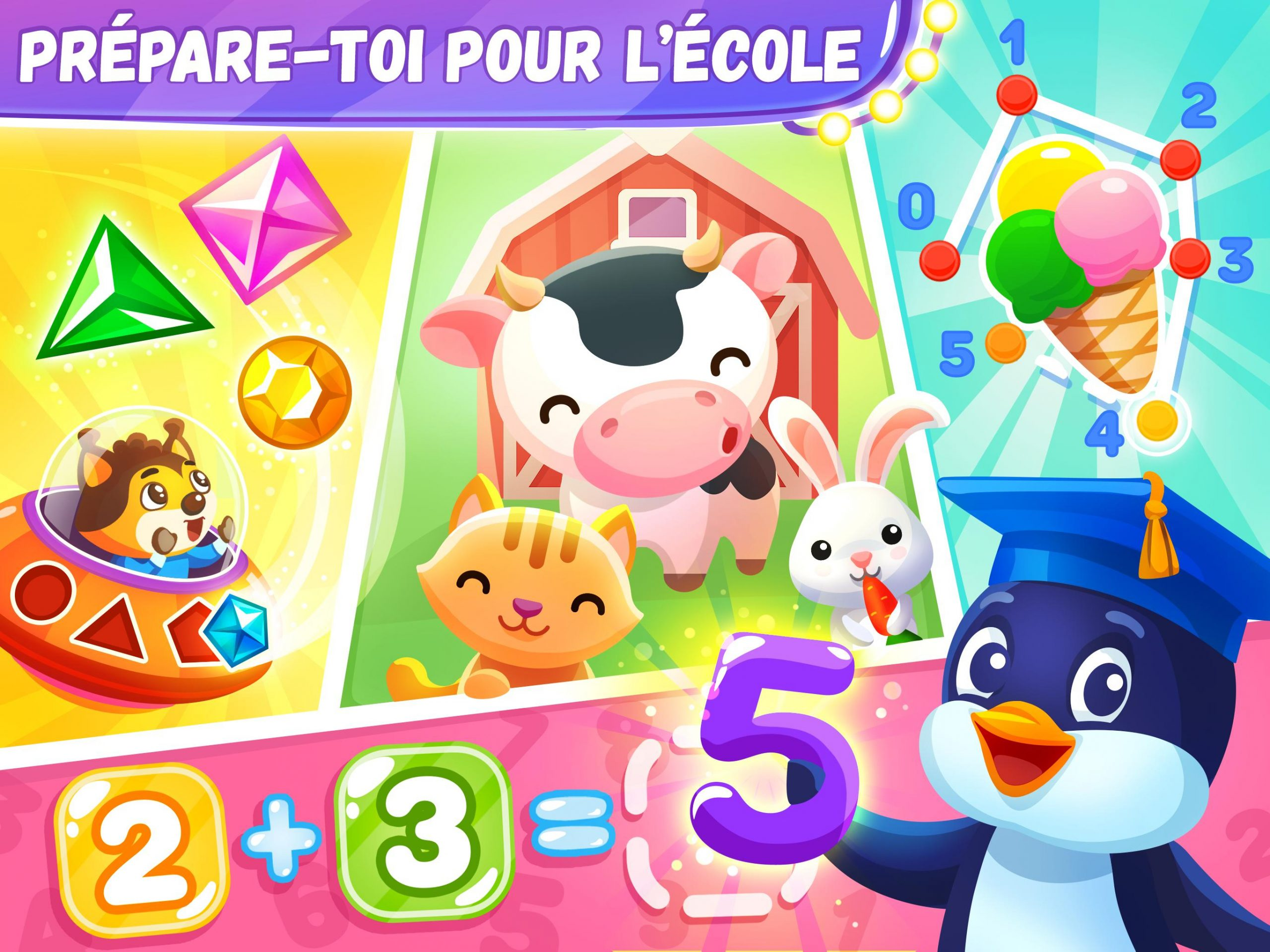 Jeux Éducatifs Pour Les Enfants De 4 6 Ans Pour Android avec Jeux Educatif 4 5 Ans