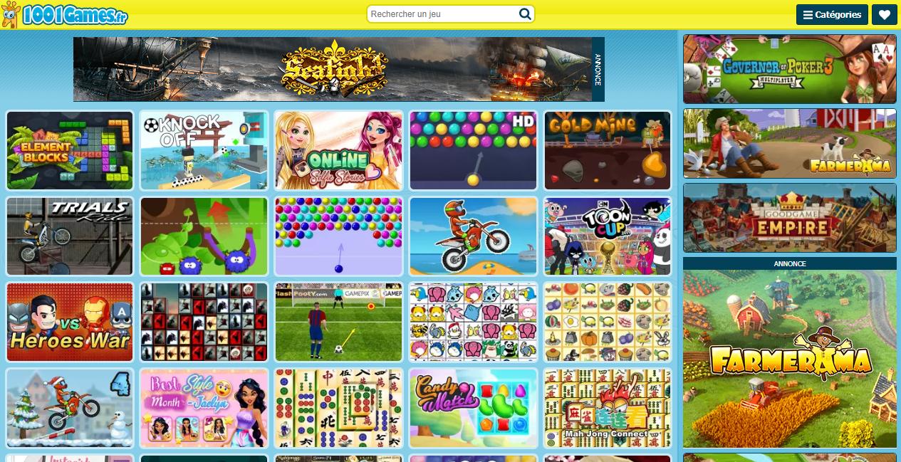 Jeux En Ligne Sur 1001Games.fr. Les Meilleurs Jeux En dedans Recherche Jeux Gratuits À Télécharger