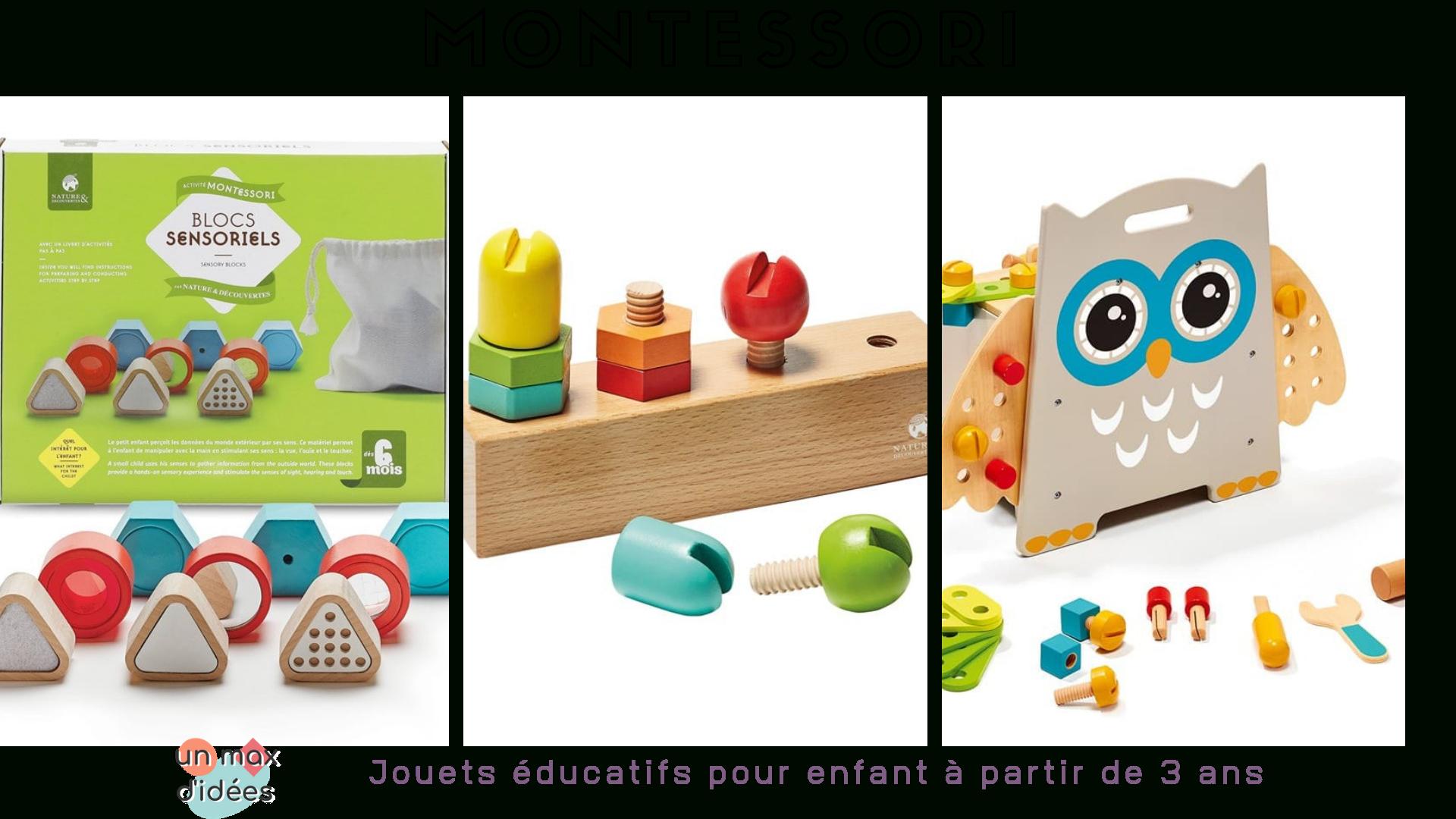 Jeux Montessori Pour Éveiller La Curiosité Des Enfants avec Jeux Pour Petit De 3 Ans