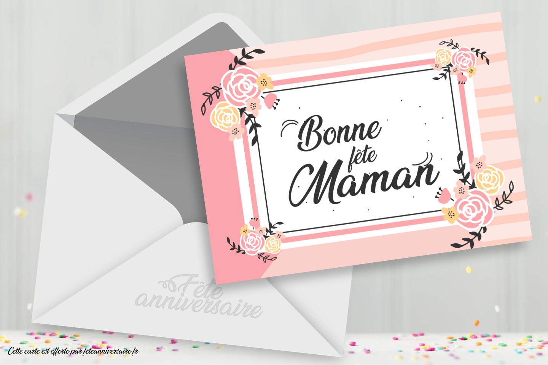 Jolie Carte De Fête Des Mères Bonne Fête Maman tout Fete Maman