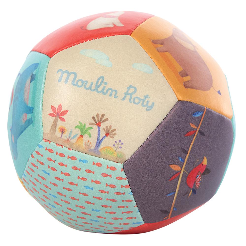 Jouet D'Éveil Bébé Balle Souple 10Cm Les Papoum De Moulin pour Jeux De Balle Bebe