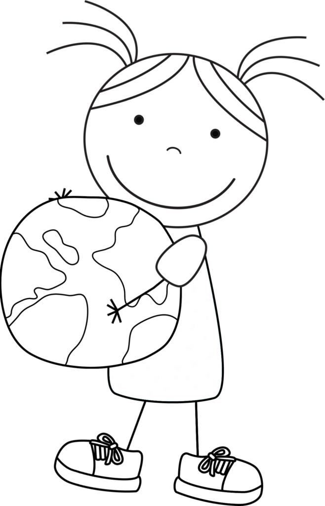 Kid Color Pages: Earth Day For Girls   Jour De La Terre tout Coloriage Environnement