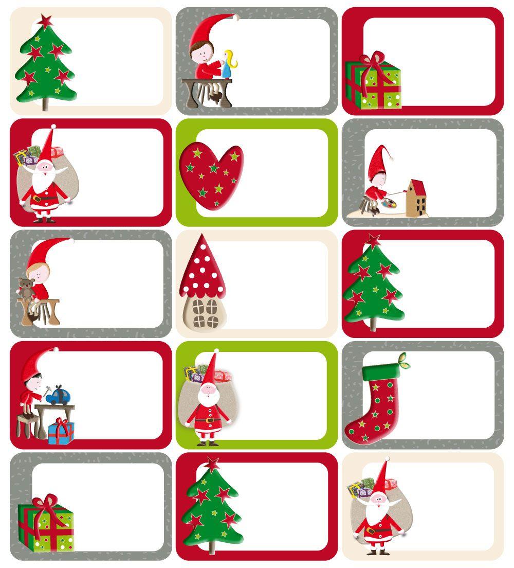 Kit Étiquettes Cadeaux Lutins De Noël | Etiquette Cadeau Noel à Etiquette Noel À Imprimer