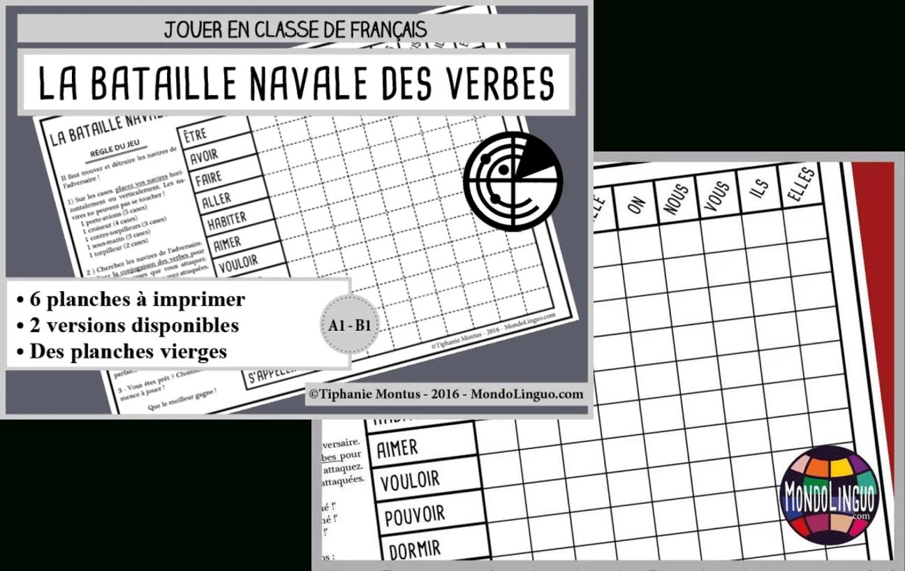 La Bataille Navale Des Verbes - Portaileduc serapportantà Grille De Bataille Navale À Imprimer