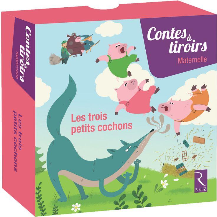 La Boîte «Les Trois Petits Cochons» Fait Partie De La tout Éditions Retz Maternelle