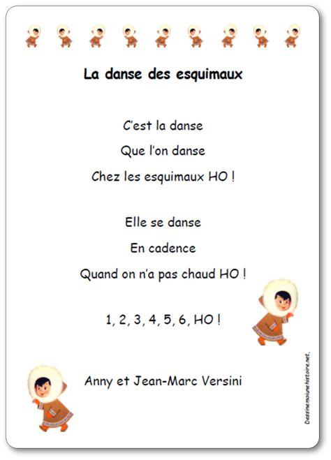 La Danse Des Esquimaux D'Anny Et Jean-Marc Versini | Hiver destiné La Chanson Des Esquimaux