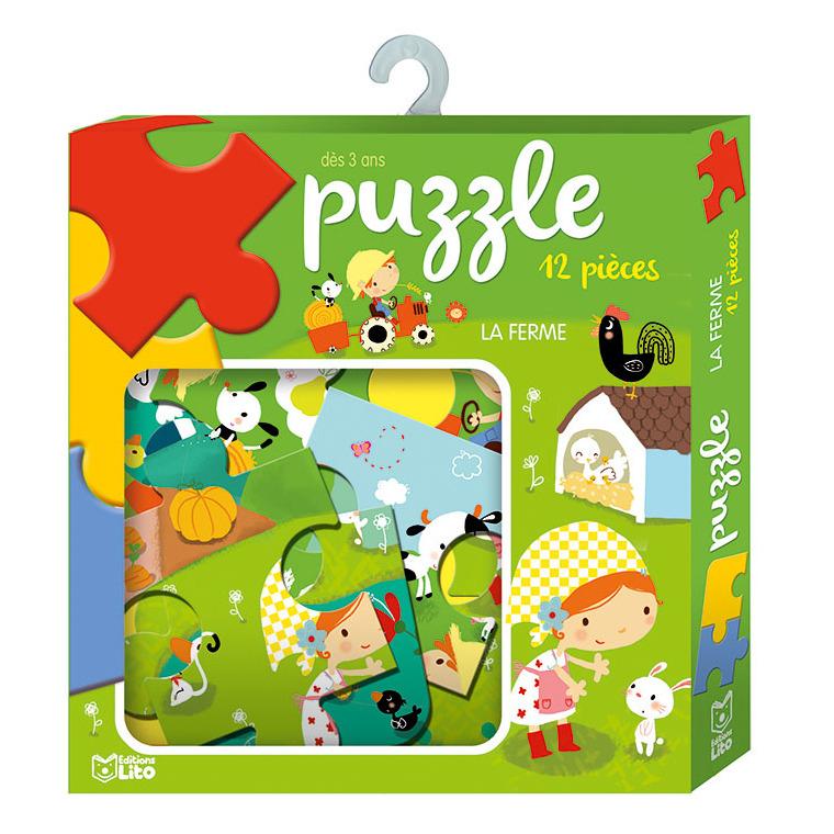 La Ferme Puzzle Ma Boîte À Jeux 3 Ans Éditions Lito destiné Puzzle Gratuit 3 Ans