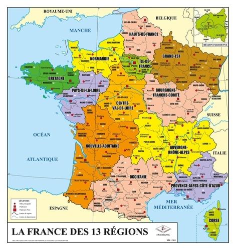 La France Des 13 Régions / La France Physique - De intérieur Les 13 Régions