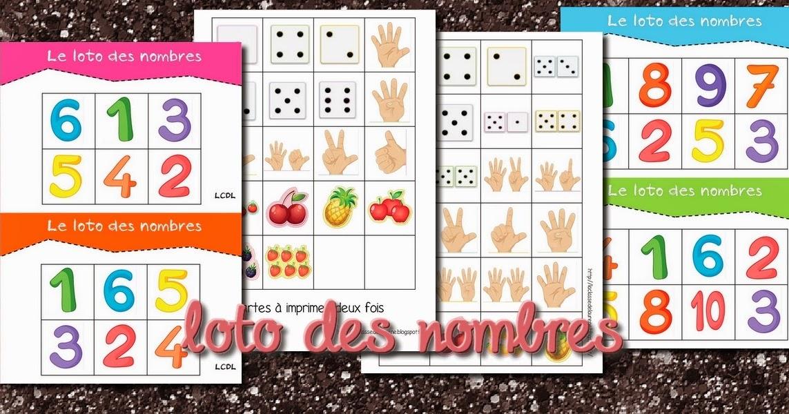 La Maternelle De Laurène: Le Loto Des Nombres encequiconcerne Liste Loto