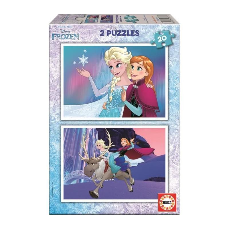 La Reine Des Neiges Puzzle 2 X 20 Pieces dedans Jeux Puzzle La Reine Des Neiges