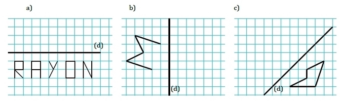 La Symétrie Axiale : Exercices De Maths 6Ème (Sixième) À pour Symétrie A Imprimer