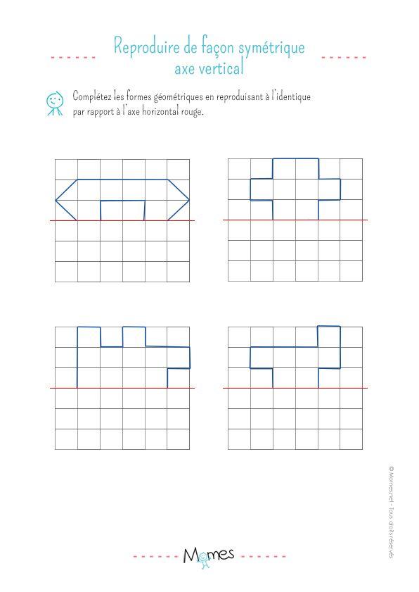 La Symétrie Horizontale : Exercice | Axe De Symétrie intérieur Exercice Symétrie Axiale Ce2