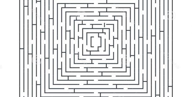 Labyrinthe Difficile Élégant Stock Jeu Éducatif De à Labyrinthe Difficile
