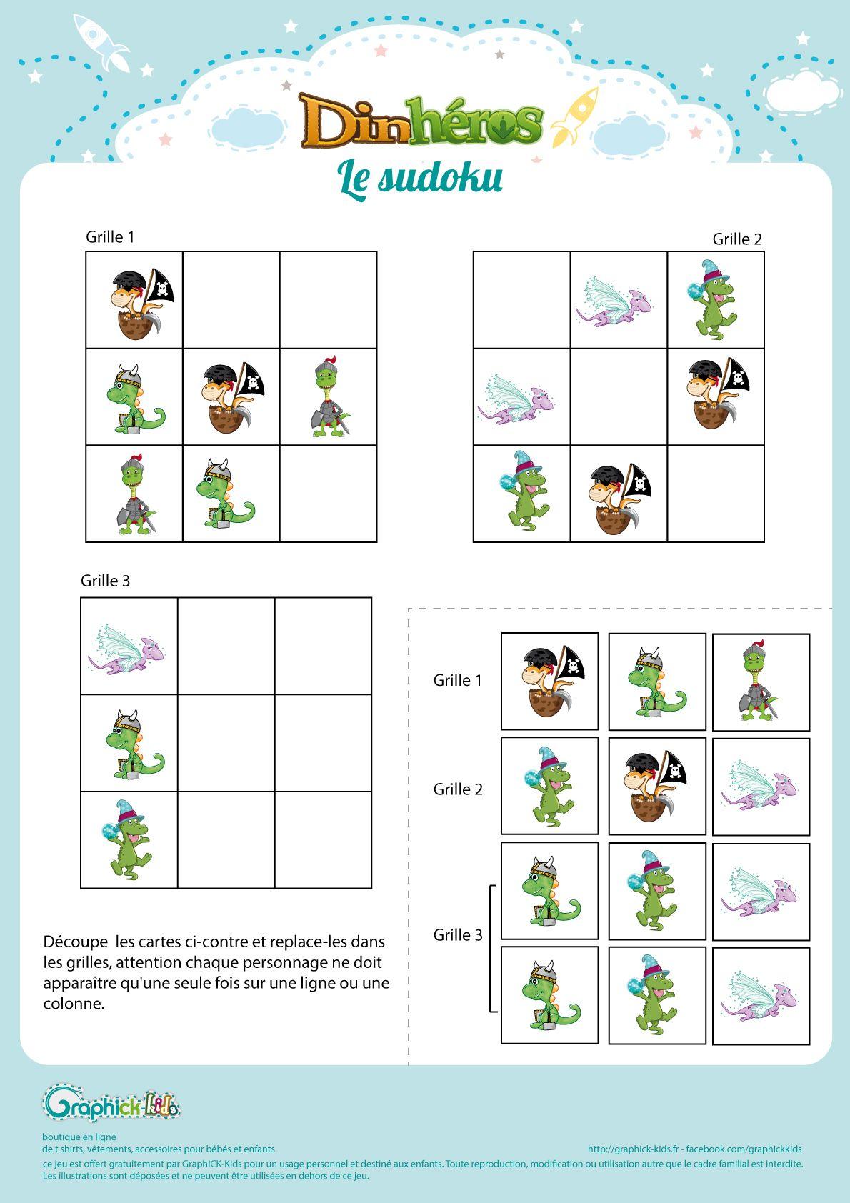 L'Activité Du Mercredi : Le Sudoku Des Dinhéros - Graphick serapportantà Sudoku Animaux Maternelle