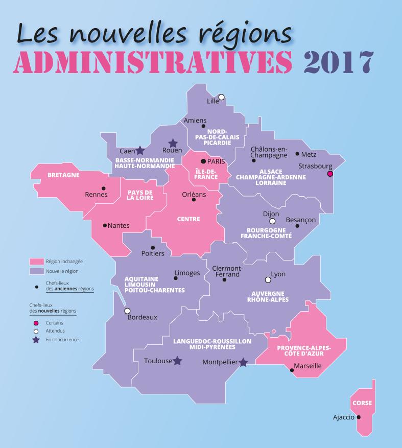 L'Agence De Cartographie :Tourisme, Plans De Villes à Nouvelles Régions De France 2017