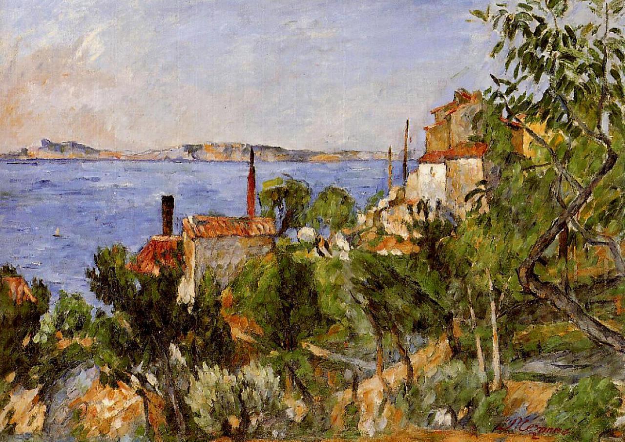 Landscape. Study After Nature, 1876 - Paul Cezanne concernant Paul Cezanne Oeuvres
