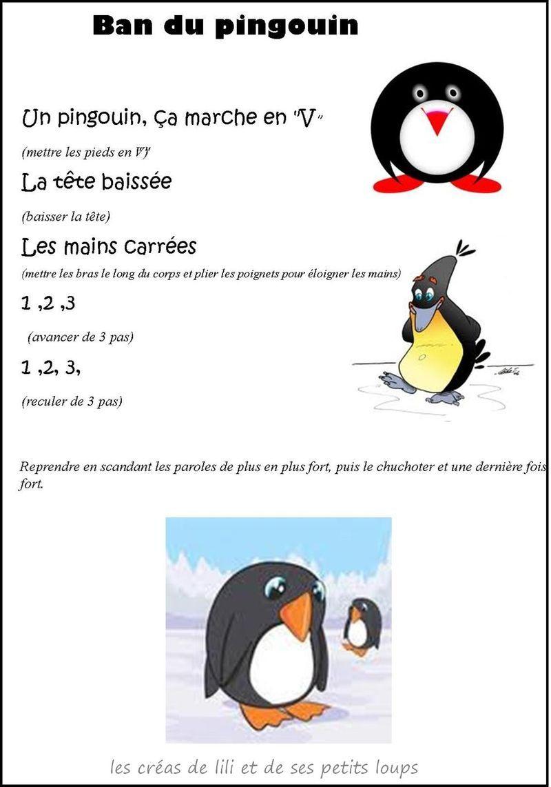Le Ban Du Pingouin Contine À Mimer | Pingouin, Comptine pour Un Pingouin Du Pôle Nord