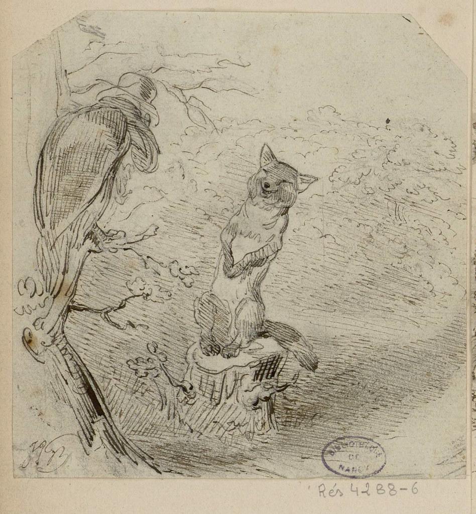 Le Corbeau Et Le Renard   Les Fables De La Fontaine concernant Dessin Du Corbeau Et Du Renard